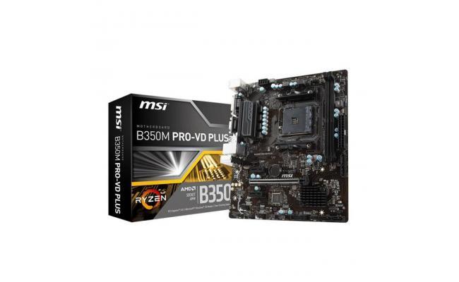MSI B350M PRO-VD PLUS AMD B350 MicroATX