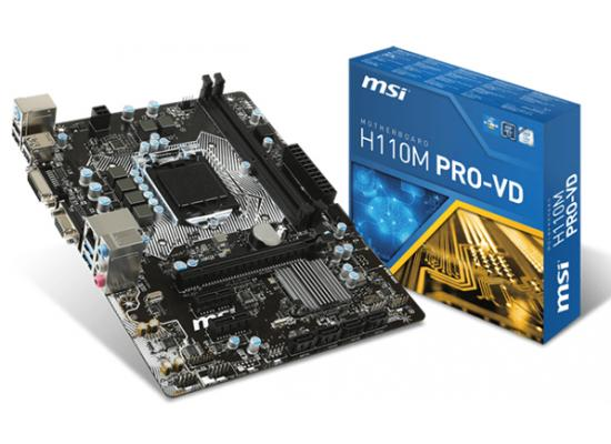 MSI H110M PRO-VD Intel H110 MicroATX Motherboard