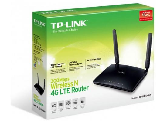 TP-LINK 300Mbps 4G LTE WiFi Router MR6400 SIM