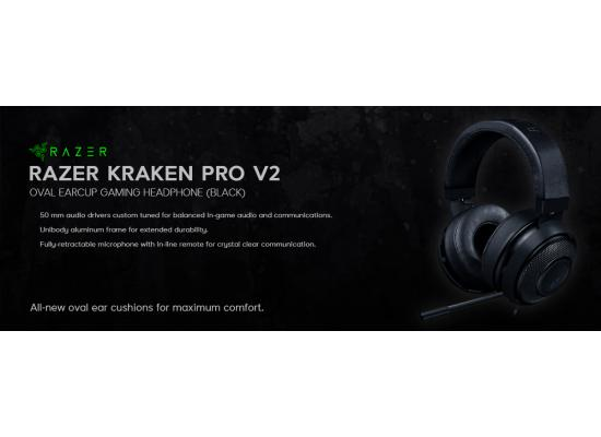 Razer Kraken Pro V2 Oval Gaming Headset - ( Black )