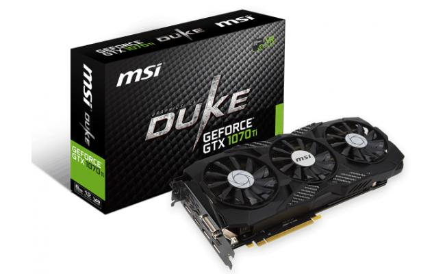 MSI NVIDIA GeForce GTX 1070 Ti DUKE 8GB GDDR5