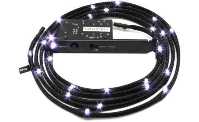 NZXT CB-LED20-WT 2m Sleeved LED Kit (White)