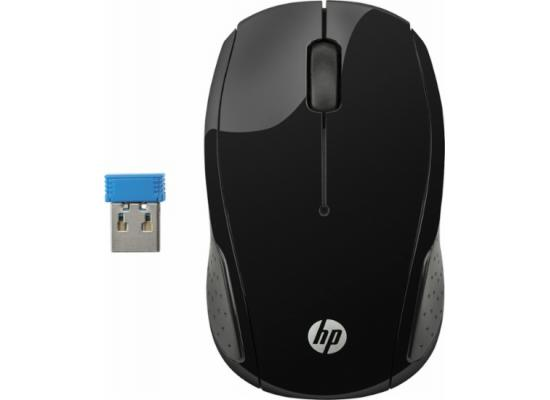 HP 200 Wireless Mouse Black USB Optical