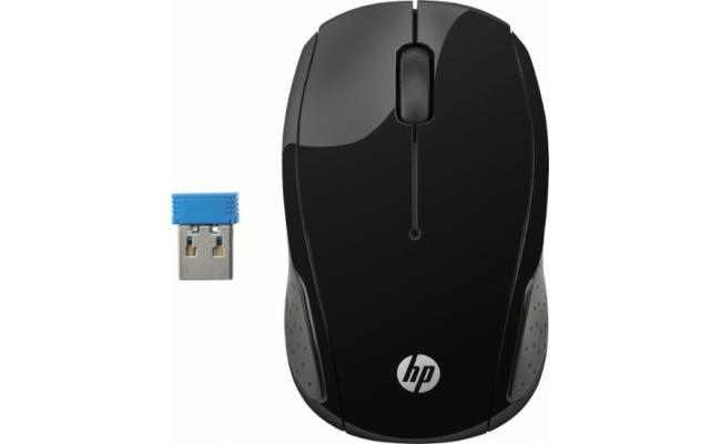 HP 200 Wireless Mouse Black USB Optical