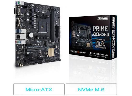 Asus PRIME A320M-C R2.0 A320 MicroATX Motherboard