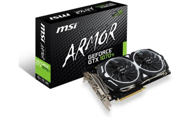 MSI NVIDIA GTX 1070 Ti ARMOR 8G 8 GB GDDR5