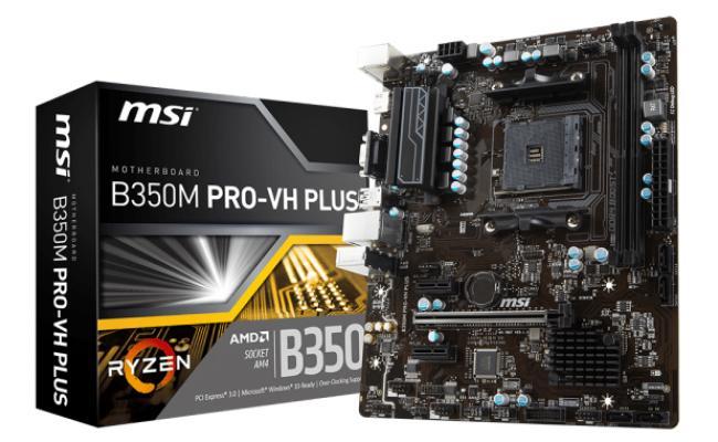 MSI B350M PRO-VH PLUS AMD B350 MicroATX
