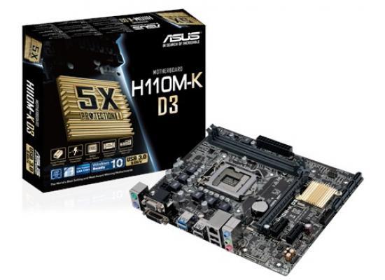 Asus H110M-K  Intel H110 DDR4 MicroATX Motherboard