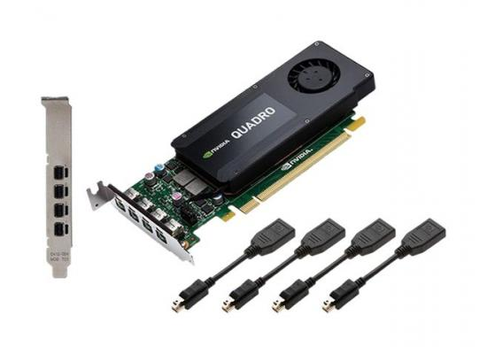 PNY NVIDIA Quadro K1200 4GB GDDR5 4Mini Display