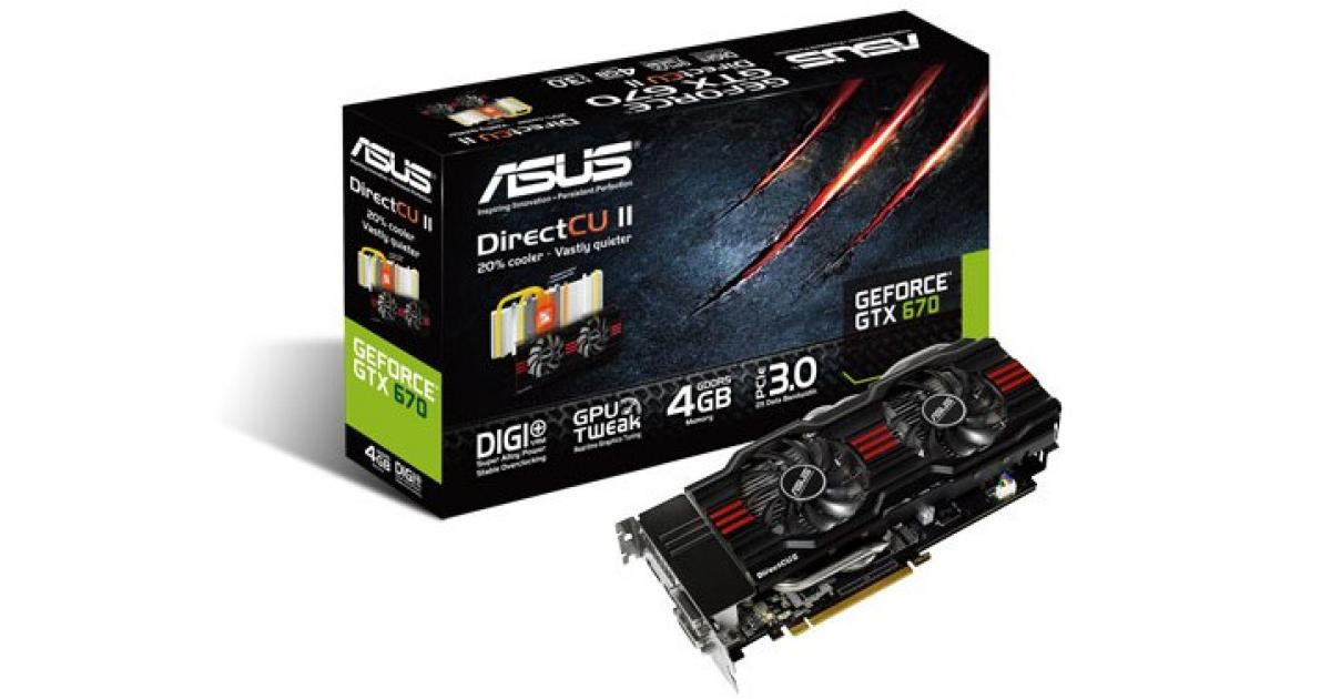 Asus GeForce GTX670-DC2-4GD5 Drivers Windows