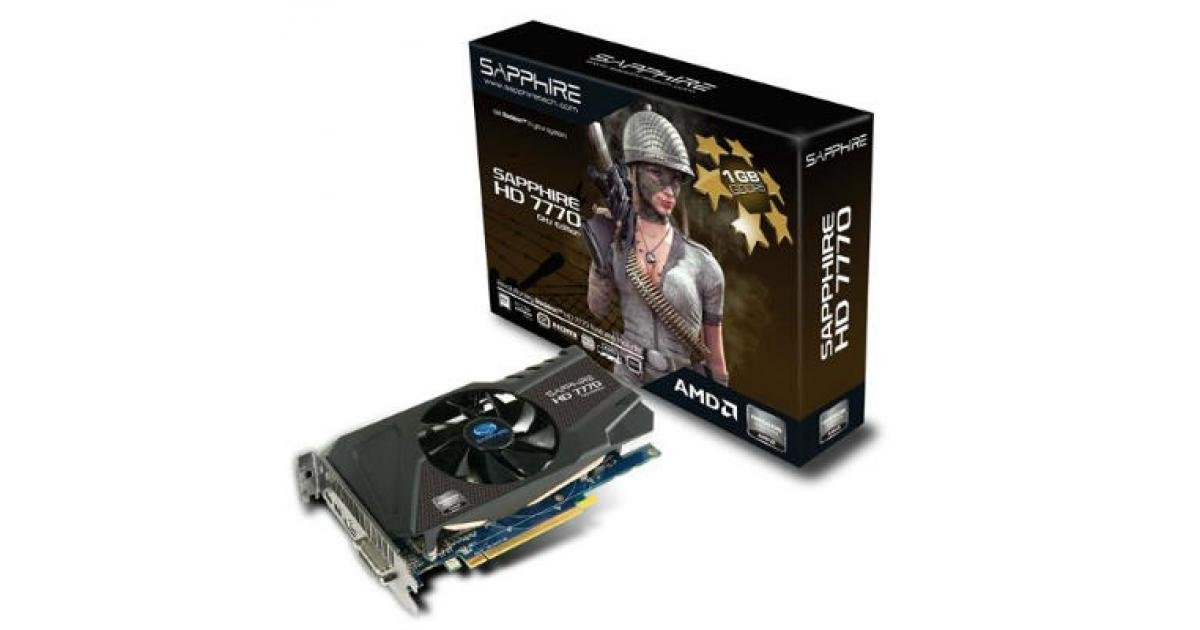 Sapphire AMD Radeon HD 7770 GHz Edition 1GB | 11201-17-20G | City Center  For Computers | Amman Jordan
