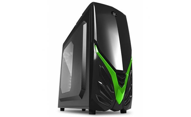Raidmax Viper II A07WBG Gaming Case Green