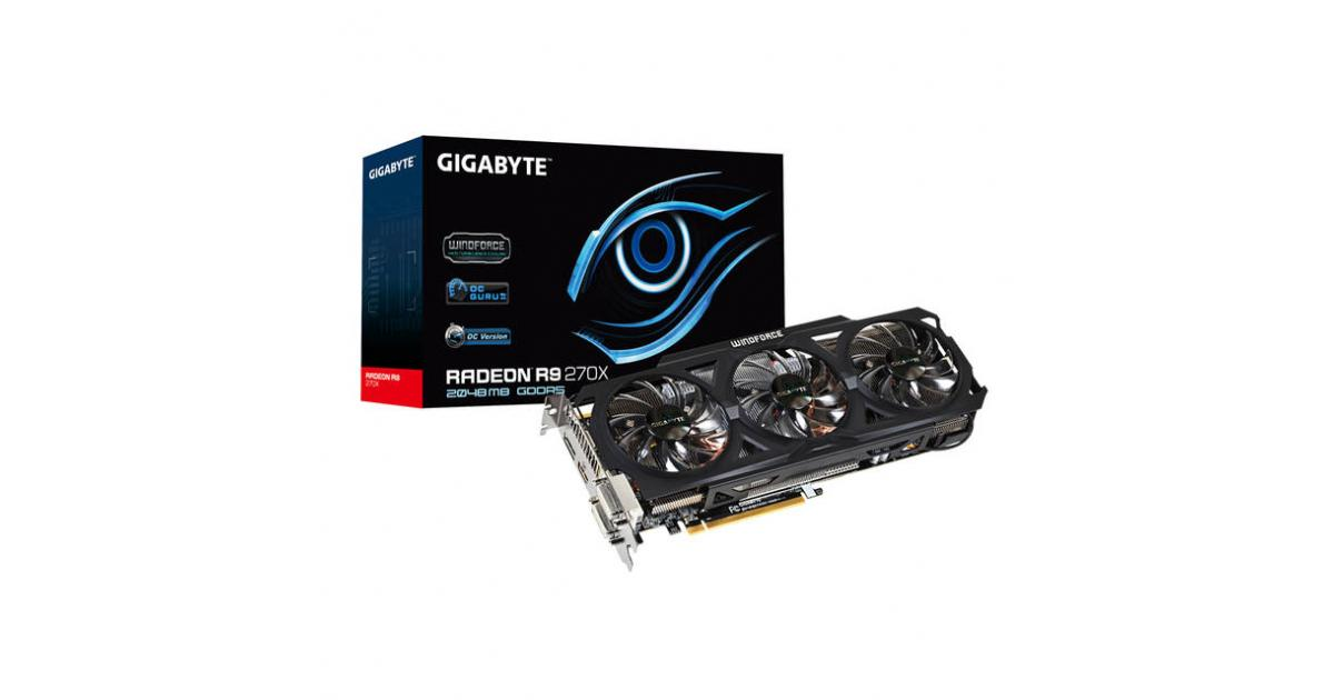 GIGABYTE AMD Radeon R9 270X OC 2GB GDDR5 | GV-R927XOC-2GD | City Center For  Computers | Amman Jordan