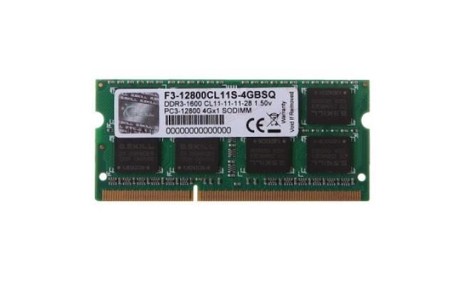 G.SKILL 4GB DDR3 SO-DIMM DDR3 1600Mhz
