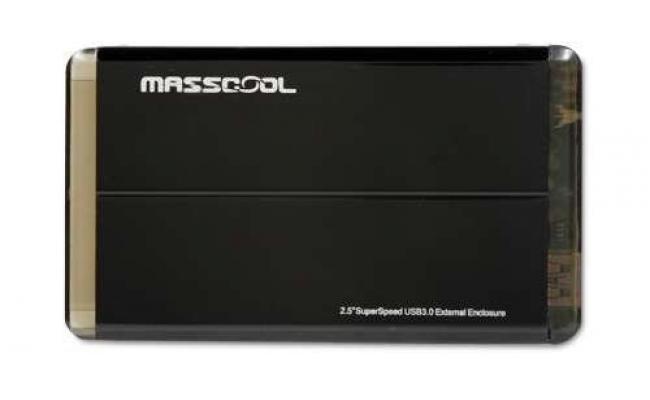 MassCool 2.5 inch SATA to USB 3.0 Enclosure (Black)