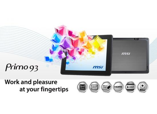 "MSI Primo 93 9.7"" Quad Core 3G 16GB Android 4.2 Jelly Bean"