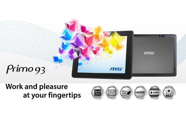 "MSI Primo 93 9.7"" Quad Core 3G 16GB Android 4.2 Jelly Bean"