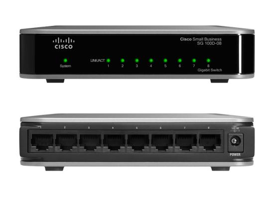 Cisco SG100D-08P Smart 8-Port PoE Desktop Gigabit