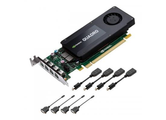 PNY NVIDIA Quadro K1200 4GB GDDR5 4Mini Display Ports