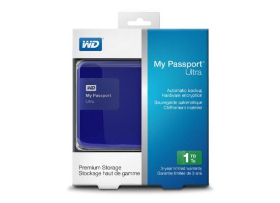 Western Digital 1TB My PassPort Ultra USB 3.0 , Blue