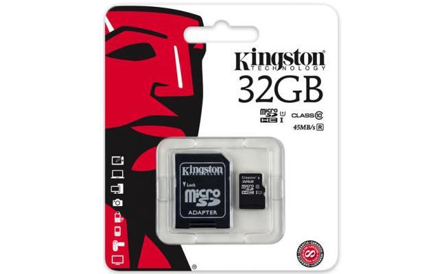 Kingston G2 32GB microSDHC Flash Card Class 10
