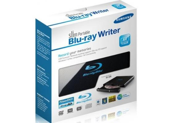 Samsung  6X USB 2.0 Slim Blu-ray Writer External (Black)