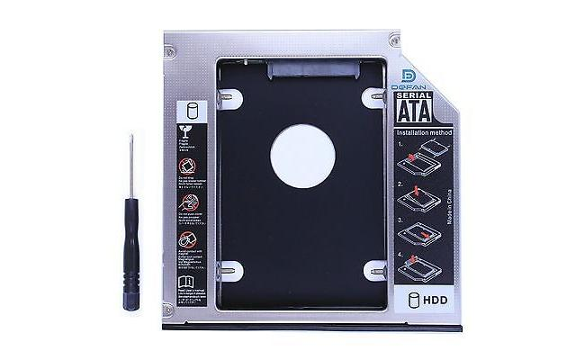 """Universal 9.0mm HDD Caddy For Laptop 2.5"""""""