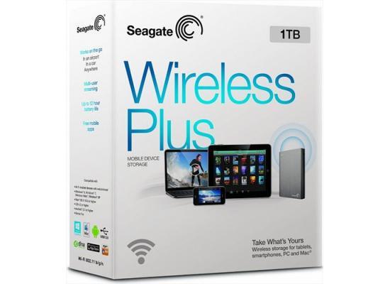 Seagate 1TB Wireless Plus USB 3.0 Portable Hard Drive