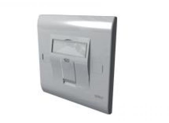 MMC 1 PORT 86x86 FACE PLATE UK STYLE