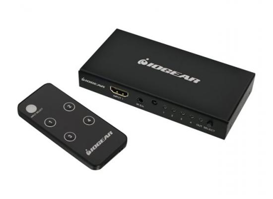 IOGEAR GHDSW4K4 4K 4-Port HDMI Switch w/ Remote