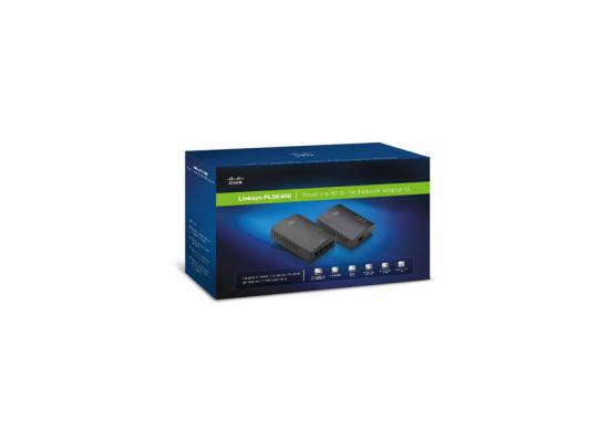 Linksys PLSK400 Powerline AV 4-Port Network Adapter Kit