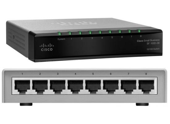 Cisco Small Business SF100 Unmanaged 8-Port PoE