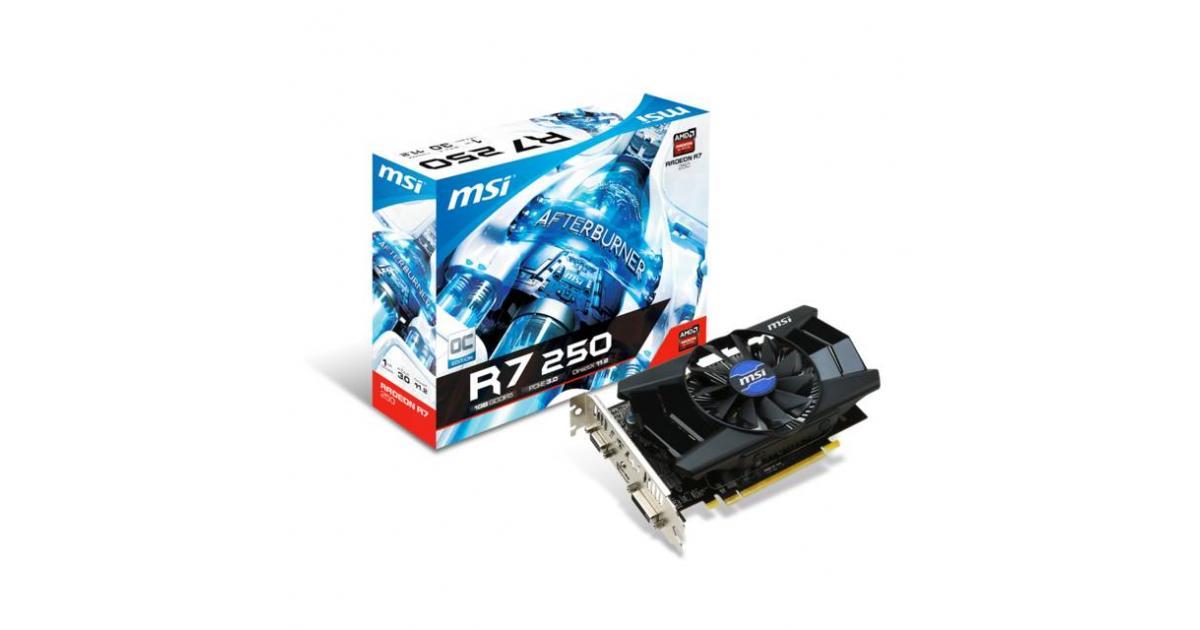 MSI AMD Radeon R7 250 OC 1GB GDDR5 | R7 250 1GD5 OC | City Center For  Computers | Amman Jordan