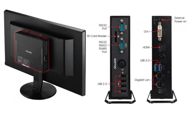 Shuttle DS81 Slim PC Barebone System For Haswell CPUs