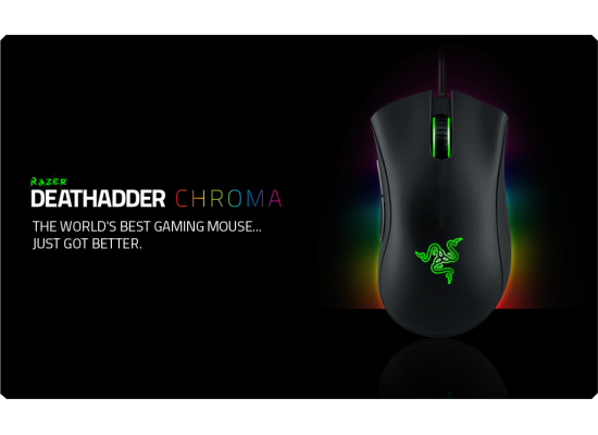 RAZER DeathAdder Chroma USB RGB Gaming Mouse