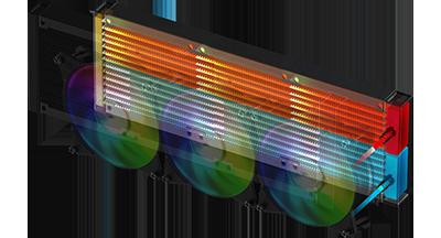 نتيجة بحث الصور عن 10124270272-Cooler Master ML360R RGB MLX-D36M-A20PC-R1